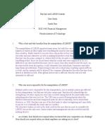 Barclays LIBOR Scandal Case Study -  Financial Management