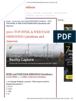 300+ TOP HTML & WEB PAGE DESIGNING Questions and Answers
