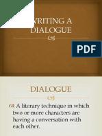 WRITING A DIALOGUE