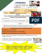 SEMANA 12  ELENA -DUCACIÒN FÌSICA- 1ERO- 2DO - 3ERO- 4TO