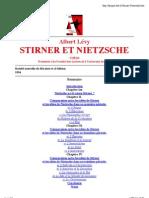 Albert Lévy - Stirner et Nietszche (1904)