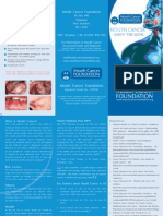 Mouth Cancer Information Leaflet