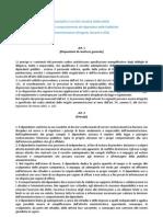 Codice Disciplinare e Sanzioni