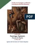25 de Julio. Santiago Apostol, Patrono de España. Propio y Ordinario de la santa misa