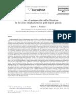 Windows of metamorphic sulfur liberation in the crust - implications for gold deposit genesis.pdf