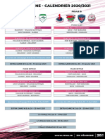 Calendriers DN Feminines 2020 2021
