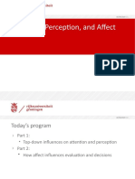 Lecture 3 - Attention, Perception, & Affect