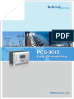 Data Sheet - PCS-9613 Differential Relay