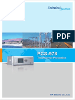 Data Sheet - PCS-978 Transformer Relay