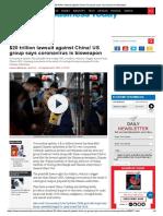 $20 trillion lawsuit against China! US group says coronavirus is bioweapon