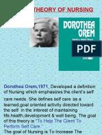 Orem's theory Application