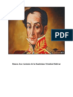 Simon Jose Antonio de La Santisima Trinidad Bolivar - 24 julio 1783 -Caracas