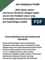 Birokrasi dan Kebijakan Publik