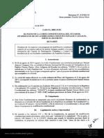 0005-19-RC - Dictamen, Creación de un sistema judicial de justicia indígena paralelo a la justicia ordinaria y la eliminación del CPCCS