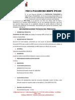 FICHA TECNICA PASAMUROS HDPE PE100 GD 1