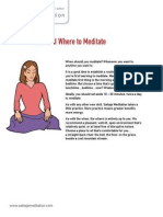 01. When and where to practice Sahaja Meditation? - Sahaja Meditation Handout v1.2