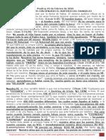 PREDICA L. (2 Febrero 2020) DAR A CONOCER CON DENUEDO EL MISTERIO DEL EVANGELIO