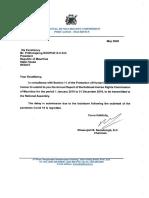 Rapport 2019 de la NHRC de Maurice
