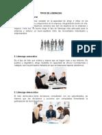 TIPOS DE LIDERAZGO y FACTORES QUE INTERVIENEN EN EL DESARROLLO HUMANO