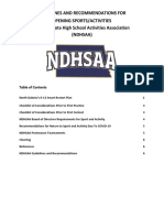 NDHSAA Return to Competition Guidelines