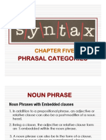 08 Chapter 5b - Phrasal Category (NP wz Embeded Clauses)