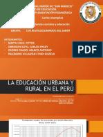 LA EDUCACIÓN URBANA Y RURAL EN EL PERÚ