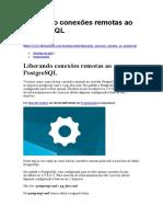 Liberando conexões remotas ao PostgreSQL
