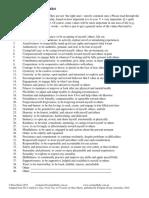 A Values Checklist