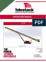 Manual de operacion Telestack TC 420