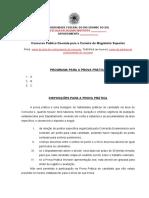 Programa e Disposicoes para a Prova Pratica - atualizado