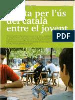 Alerta per l'ús del català entre el jovent (Entrevista butlletí Òmnium Cultural)