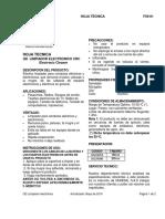 FICHAS SEGURIDAD QD Limpiador Electrónico CRC