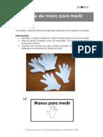 Molde de mano para medir  _unidad no standar_