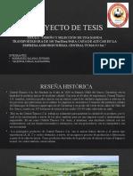 PROYECTO DE TESIS - Central Tumaco SA