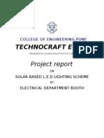 Solar Based l.e.d Lighting Scheme