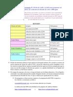 cantidades de clorito de sodio y acido para obtener CE-DE-ESE 3000 ppm