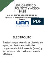 Equilibrio Hídrico y Electrolítico