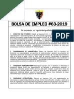 BOLSA DE EMPLEO No.63