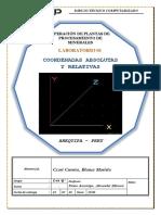LAB 1 dibujo tecnico- COORDENADAS ABSOLUTAS Y RELATIVAS