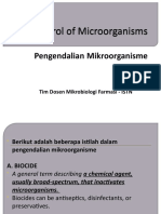 The Control of Microorganisms
