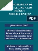 Cómo hablar de sexualidad a niños y adolescentes - Escuela para padres