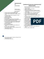 Cuestionario de apoyo para evaluación de nivel Ciencias 4