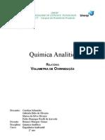 Relatório de Química Analítica: Volumetria de Oxirredução