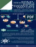 GUÍA DE PREVENCIÓN DEL NUEVO SARS COV-2 Y MANEJO AMBULATORIO - INFOGRAFÍA
