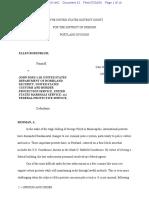 ELLEN ROSENBLUM,                         Plaintiff,                        v.            JOHN DOES 1-10; UNITED STATES DEPARTMENT OF HOMELAND SECURITY; UNITED STATES CUSTOMS AND BORDER PROTECTION SERVICE; UNITED STATES MARSHALS SERVICE; and FEDERAL PROTECTIVE SERVICE