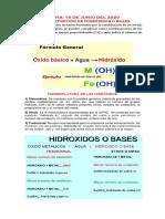 CLASE # 10 - NOMENCLATURA DE HIDROXIDOS - CICLO V