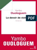 Yambo Ouologuem - le devoir de violence.pdf
