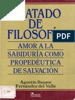 Basave Fernández del Valle, Agustín - Tratado de filosofía. Amor a la sabiduría como propedéutica de salvación.pdf