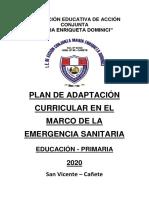 PRIMARIA PLAN DE ADAPTACIÓN -Maria Enriqueta 2020.pdf