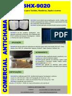 SHX-9020 Ignifugante para Tecidos, Madeiras, Sapés, Piaçaba e outros